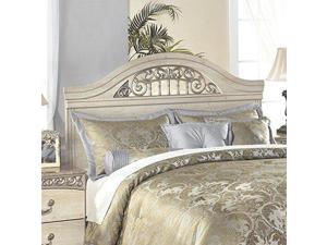 Catalina Queen/Full Panel Headboard Antique White B196-57