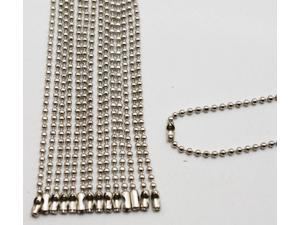 Silvery 2 mm Diameter Ball Chain 220 mm Length Metal Bead Chain for Pendant Pack of 20