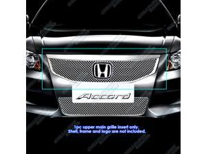 2011-2012 Honda Accord Sedan Stainless Steel Chrome X Mesh Grille Grill Insert