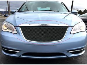 Fits 2011-2014 Chrysler 200 Upper Stainless Steel Black Mesh Grille #R76872H