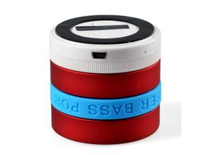 Red+Blue Super Bass Portable Mini Speaker, Wireless Bluetooth WiFi Speaker Support TF Card Built-in Radio 360¡ãvolume adjustment ...