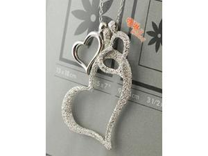 Demarkt® Fashion Stylish Vintage Three Hearts Love Necklace Also Special Gift