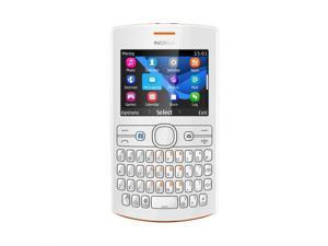 Nokia Asha 205 Orange/White Stereo FM Radio Bluetooth Unlocked GSM Cell Phone                                                                                                                                                                      All Unloc