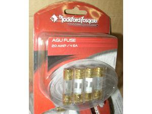 ROCKFORD FOSGATE NEW AGU GLASS FUSES 20AMP RP7560