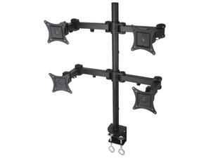 Vivo STAND-V004 Quad LCD Monitor Desk Mount Stand Fully Adjustable For 4 Screens Up To 27""