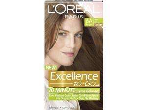 L'Oreal Excellence To-Go 10-Minute Crème Coloring, 6A Light Ash Brown