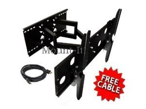 Mount-It! LCD TV, LED TV Wall Mount Bracket with Full Motion Swing Out Tilt & Swivel Articulating Dual Arm for Flat Screen ...