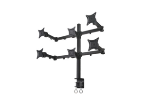 Mount-It! MI-756 Articulating Dual Arm Computer Monitor Desk Mount for 6 monitors up to 21""