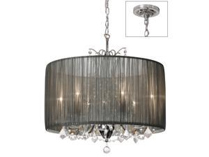 Dainolite 5 Light Crystal Chandelier, Polished Chrome VIC-205C-PC-316