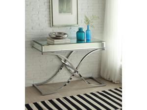 1PerfectChoice Yuri Mirrored Top Chrome Sofa Table