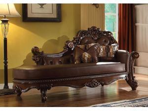 1PerfectChoice Vendome Cherry PU Chaise With 2 Pillows
