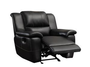 1PerfectChoice Lee Black Transitional Motion Recliner Chair