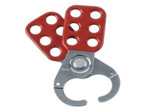 "Brady Red Vinyl-Coated High Tensile Steel Lockout Hasps With 1"" Diameter Jaws"
