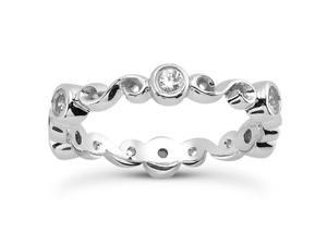 0.30 ct Ladies Round Cut Diamond Eternity Wedding Band Ring in Platinum