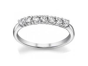 0.50 ct Ladies Round Cut Diamond Wedding Band Ring in 14 kt White Gold
