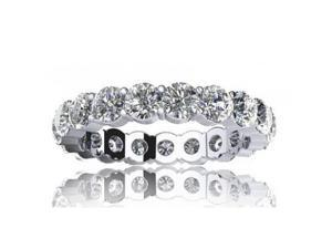 2.00 ct Sharing Prong Set Round Cut Diamond Eternity Wedding Band Ring in 18 kt White Gold