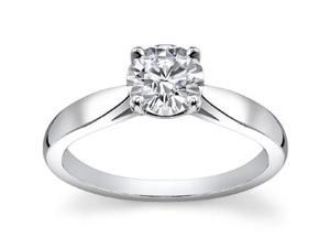 0.75 Ct Ladies Round Cut Diamond Engagement Ring  in Platinum