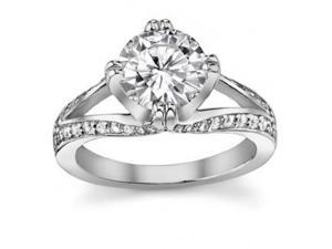 1.50 ct Ladies Round Cut Diamond Engagement Ring  in 14 kt White Gold
