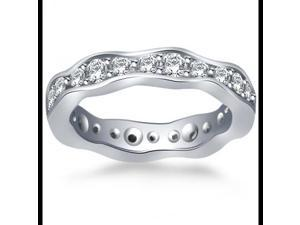 1.25 ct Round Cut Diamond Eternity Wedding Band Ring New Style in 14 kt White Gold