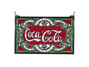 Coca-Cola Stained Glass Window Red Victorian