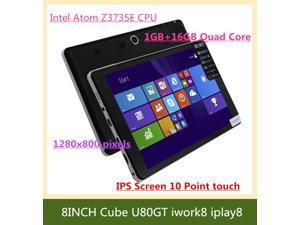 Cube U80GT iwork8 iplay8 1.8GHz Intel Z3735E Atom Quad Core Windows 8.1 INCH tablet pc 1GB RAM 16GB ROM Dual Camera BT WIFI ...