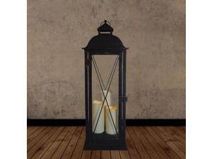Salerno Triple Candle LED Lantern with On/Off Timer