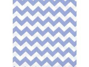 SheetWorld Fitted Crib / Toddler Sheet - Baby Blue Chevron Zigzag - 28 x 52 - Made In USA