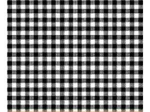 SheetWorld Fitted Basket Sheet - Primary Black Gingham Woven - 13 x 27 - Made In USA
