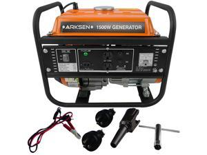 Arksen 1500W Gasoline Generator 2.8 HP Air Cooled EPA Engine 4-Stroke 87cc OHV DC 12V