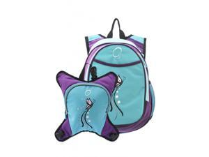 O3 Innsbruck Diaper Bag Backpack With Detachable Cooler - Turquoise Butterfly