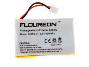 Floureon® Headset Battery for Plantronics 65358-01 / PL-65358-01, 62346-01 / PL-62346-01 /CPP-512Q, CS50, CS50-USB, CS55, CS60, CS60-USB PL-65358-01 Replacement 3.6V 500mAh Cordless Phone Battery