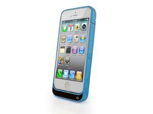 For Apple Iphone 5 5S 5C External Rechargeable Spare Backup Extended Battery Charger Pack Case Cover(blue)