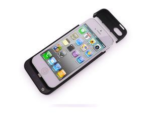 External Battery 2200mAh Backup Charger Case Back Cover Pack Emergency Power Bank for iPhone 5 5C 5S(black)