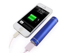 2600mAh Portable Backup Battery Charger USB Power Bank for Smart Phones and other Digital Devices - Retail Packaging - Blue