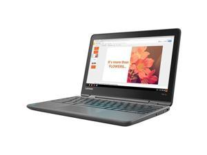"Lenovo Flex 11 ZA270025US 11.6"" Touchscreen LCD Chromebook - MediaTek Quad-core (4 Core) 1.30 GHz - 4 GB LPDDR3 - 32 GB Flash Memory - Chrome OS - 1366 x 768 - In-plane Switching (IPS) Technology -..."