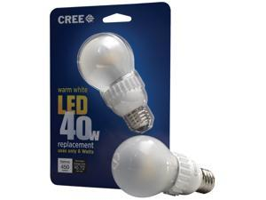 Cree 6-Watt (40W) A19 Soft White (2700K) Dimmable LED Light Bulb