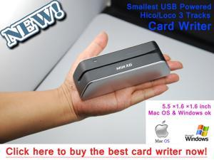 MSR X6 1/3 Size of MSR206 Smallest Magnetic Stripe Credit Card Reader Writer Encoder Powered by USB. Power adapter NOT required!work ...