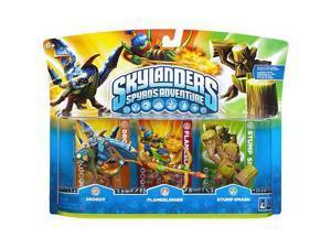 Skylanders Spyro's Adventure Character 3-P - Drobot/Flameslinger/Stump Smas #zCL