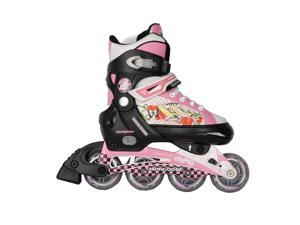 Boys Mongoose Skates- Black, White and Red- Size 5-8