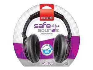 Maxell Safe Soundz Headphones - Black/Purple