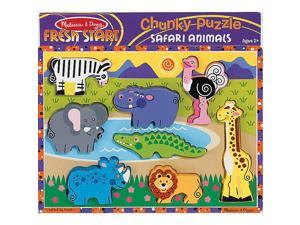Melissa & Doug Deluxe Safari Animals Chunky Wood Puzzle - 8-Piece