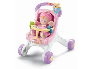 Fisher-Price Brilliant Basics Stroller Styled Walker #zTS