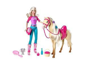 Barbie Doll and Tawny Horse Set