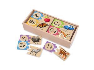 Melissa & Doug Wood Puzzle Card - Alphabet