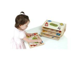 KidKraft Wooden Judaica Holiday puzzles 4 and rack