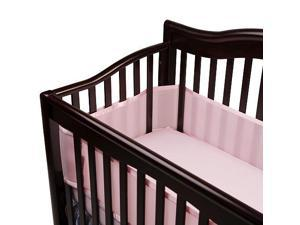 BreathableBaby Breathable Mesh Crib Liner - Light Pink