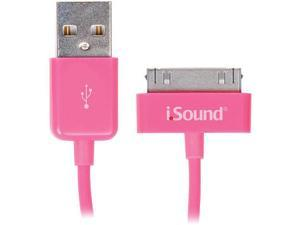 Charge and Sync 3 Foot Cable For iPad, iPhone and iPod - Pink