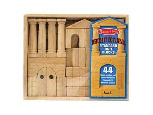 Melissa & Doug Deluxe Wooden Architectural Unit Blocks