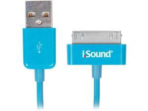 Charge and Sync 3 Foot Cable For iPad, iPhone and iPod - Blue