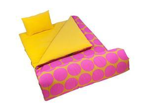 Wildkin Sleeping Bag - Hot Pink Big Dots